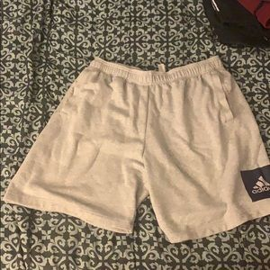 Adidas grey sweat shorts